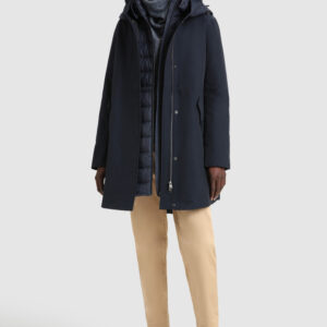 Military Parka lungo 3 in 1 in Eco Rama